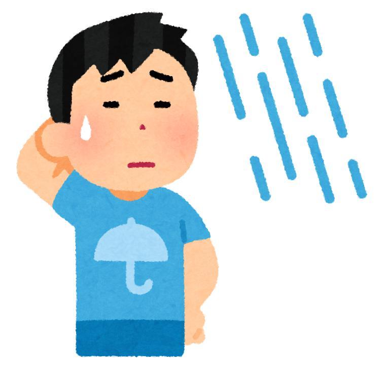 雨に濡れると禿げるって本当?正しい知識をつけて薄毛対策を